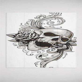 Rose Skeleton Personality Decoration Background Tapestry GT-38 - WHITE SIZE L