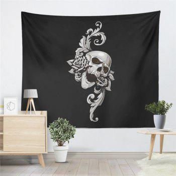 Rose Skeleton Personality Decoration Background Tapestry GT-38-1 - BLACK SIZE L