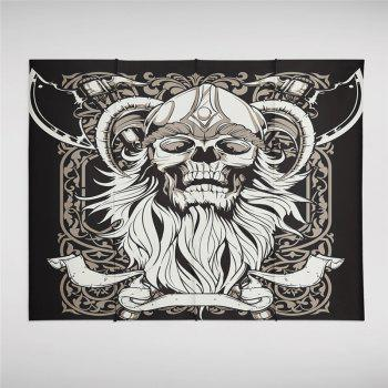 Indian Series of Skeleton Patterns Personalized Decoration Background Tapestry - BLACK SIZE S