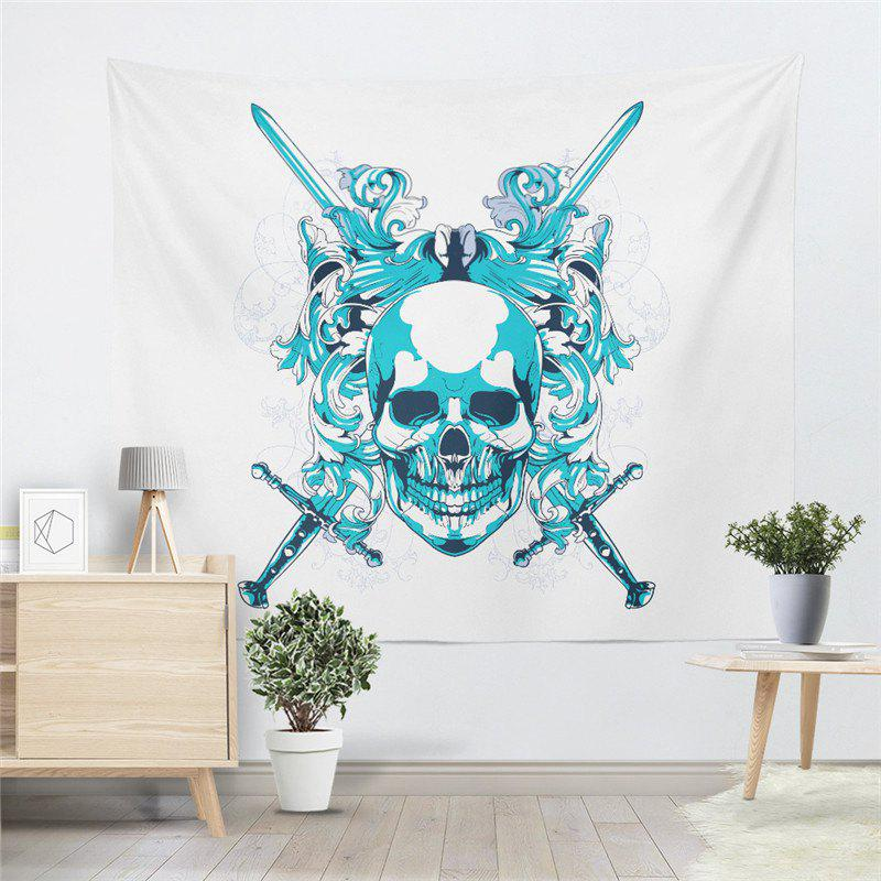 Skeleton Pattern  Personality The Decoration Tapestry GT-40 - WHITE SIZE S