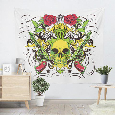 Rose Skeleton Personality Decoration Background  Tapestry GT-41 - WHITE SIZE S