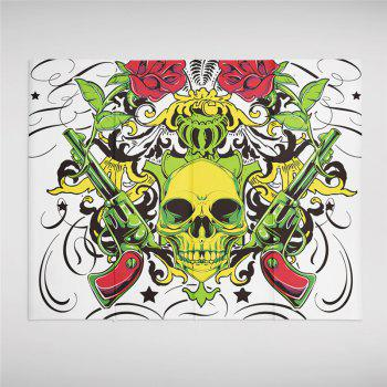 Rose Skeleton Personality Decoration Background  Tapestry GT-41 - WHITE SIZE L