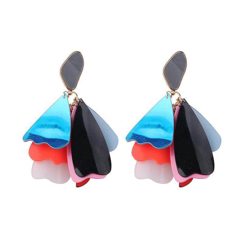 Summer Temperament Fashion Exaggerated Colorful Flower Pendant Earrings brand jewelry creative new flower can turn cactus exaggerated ring exaggerated fashion cute temperament ring