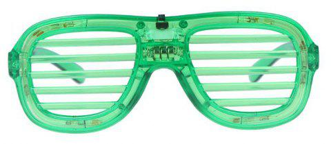 LED Light Up Glasses Party 1pc - GREEN APPLE