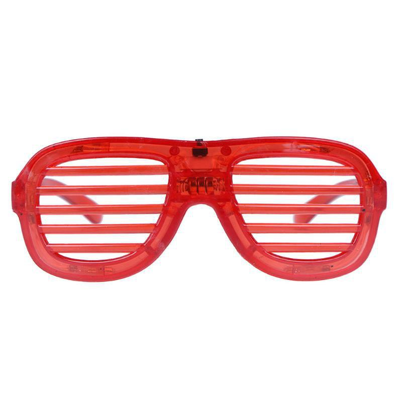 LED Light Up Glasses Party 1pc - FIRE ENGINE RED