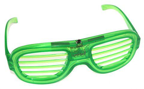 LED Light Up Shades Show Toy Glasses Party 1pc - GREEN APPLE