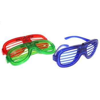 LED Light Up Shades Show Toy Glasses Party 1pc - ROYAL BLUE