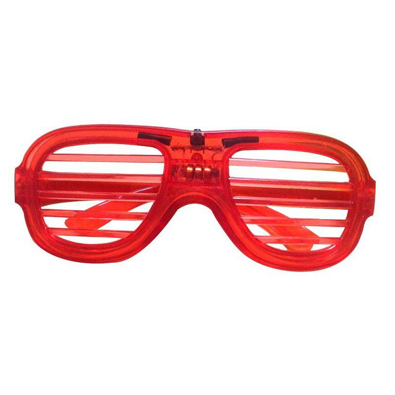 LED Light Up Shades Show Toy Glasses Party 1pc - FIRE ENGINE RED