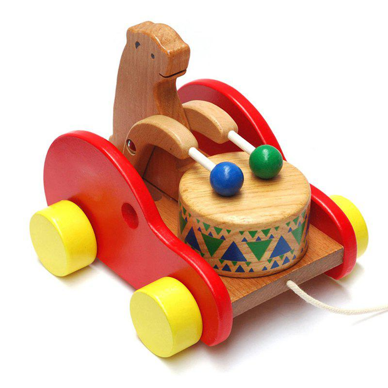 Wooden Drums Bear Creative Educational Toys for Children children wooden mathematics puzzle toy kid educational number math calculate game toys early learning counting material for kids