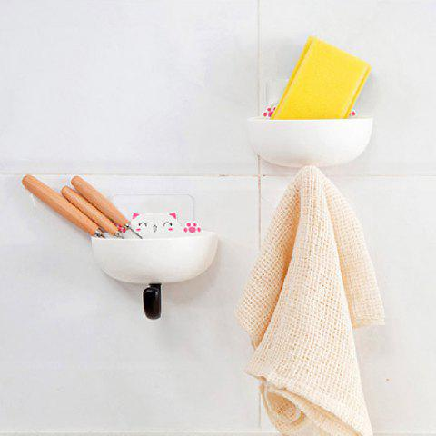 Fat Cat Soap Box with Hook Home Articles Storage Dish Rack 2PCS - multicolor A