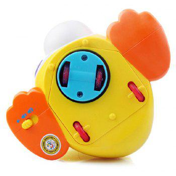 Kids Toy Musical Duck Lights Action with Adjustable Sound - YELLOW