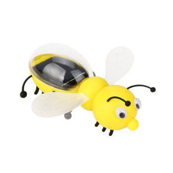 Cute Bee Solar Powered Children Educational Toy - YELLOW