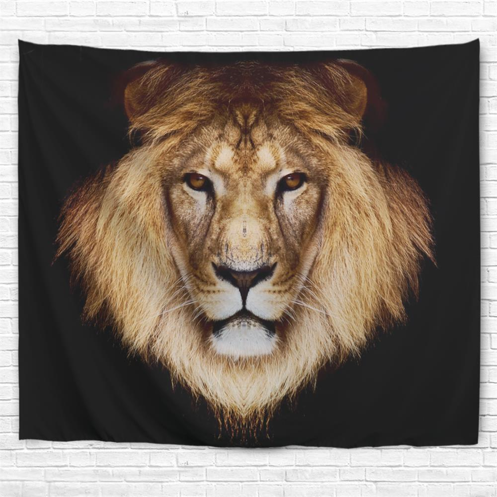 Lion Head 3D Printing Home Wall Hanging Tapestry for Decoration deer head wall mount diy model 3d puzzle cardboard animal decor reindeer head wall hanging decoration buck craft art elk gifts