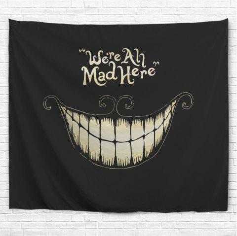 Black Laugh 3D Printing Home Wall Hanging Tapestry for Decoration - multicolor A W200CMXL180CM