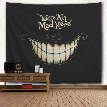 Black Laugh 3D Printing Home Wall Hanging Tapestry for Decoration - multicolor A W230CMXL180CM