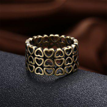 Vintage Creative Hollow Out Heart Shape Ring Charm Jewelry - BRONZE US SIZE 6