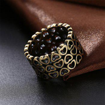Vintage Creative Hollow Out Heart Shape Ring Charm Jewelry - BRONZE US SIZE 7