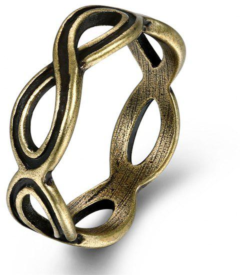 Vintage Creative Hollow Out Geometric Ring - BRONZE US SIZE 9