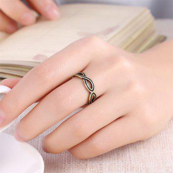 Vintage Creative Hollow Out Geometric Ring - BRONZE US SIZE 7
