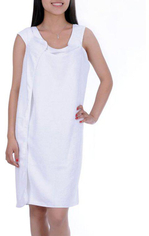 Multi-functional Large Bath Towel with Thick Microfiber - WHITE