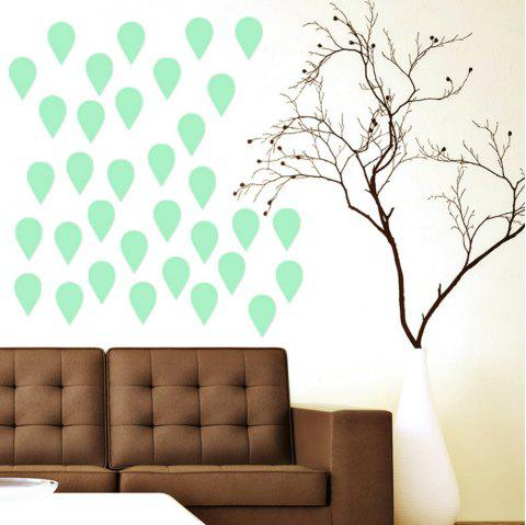 Noctilucent Engraving Adorable Raindrop Cartoon Switch Sticker Wall - DRAGON GREEN