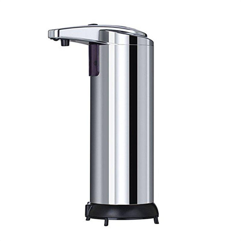 Automatic Soap Dispenser Touchless Stainless Steel Fingerprint Resistant - SILVER