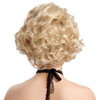 Synthetic Light Blonde Short Curly Hair Charming Cosplay Dancing Party Wigs - BLONDE 10INCH