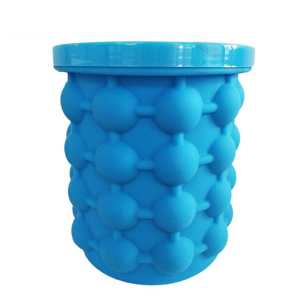 New Revolutionary Space Saving Ice Cube Maker Bucket - ROYAL BLUE