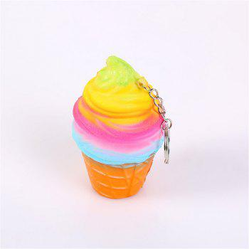 New Jumbo Squishy Soft Slow Rebound Toy Seven Color Ice Cream - multicolor A