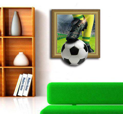 3D Football Personality Creative Removable Wall Sticker - multicolor