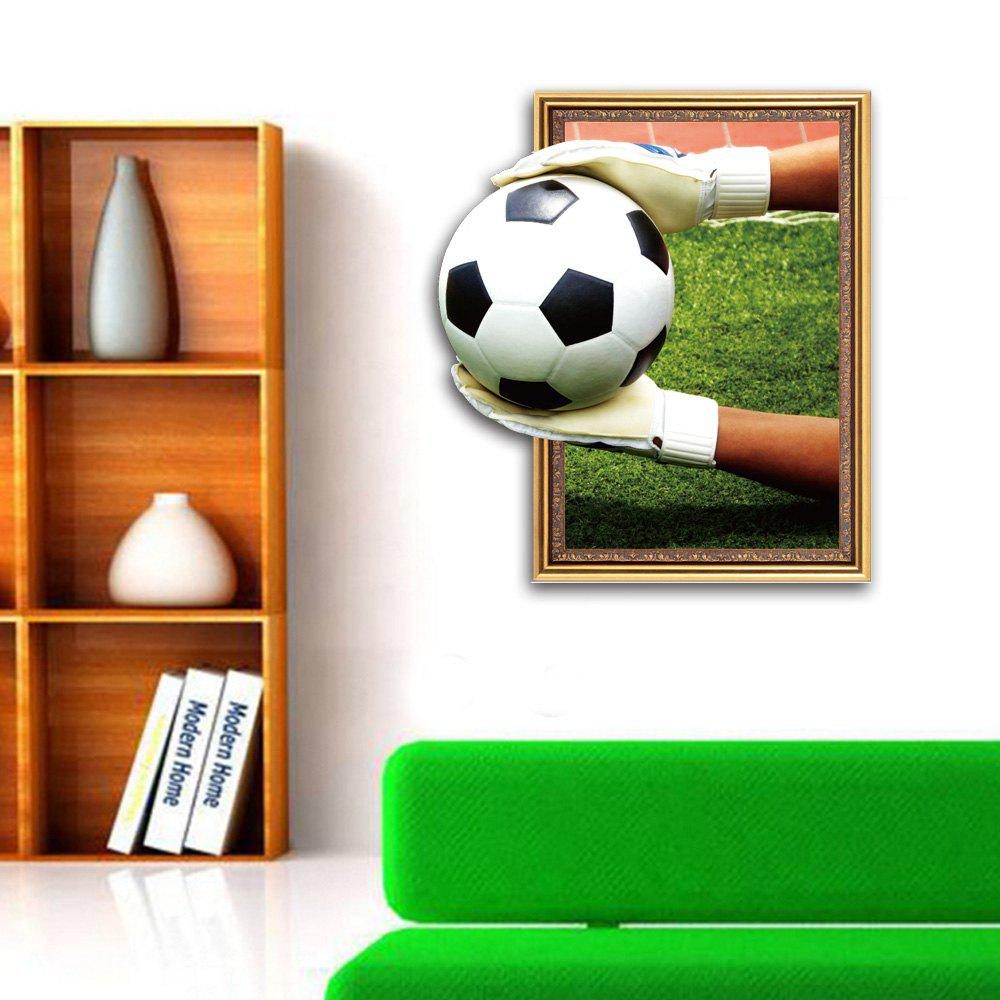 3D Goalkeeper Football Personality Creative Removable Wall Sticker - multicolor