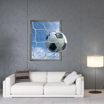 3D Football Scoring Personality Creative Removable Wall Sticker - multicolor