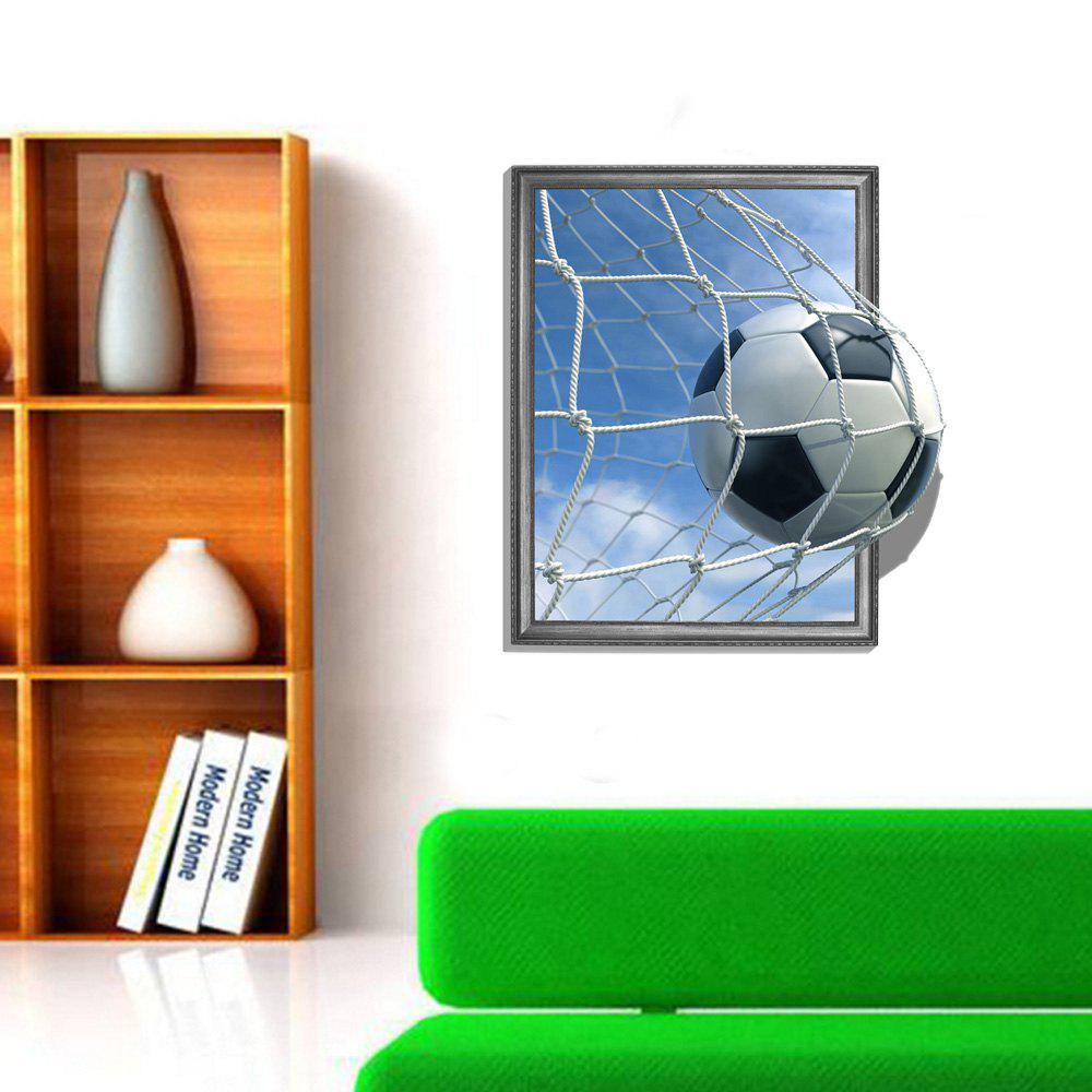 3D Football Scoring Personality Creative Removable Wall Sticker 3d polar bear personality creative removable wall sticker