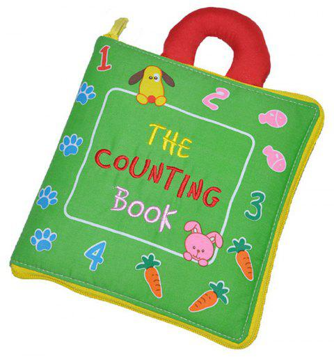Flower Cloth Book Understanding Numbers Puzzle Baby Lettering - SEAWEED GREEN