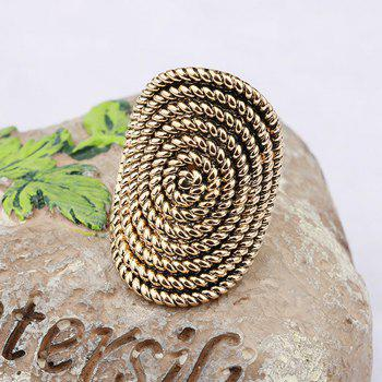 PULATU Stylish Personality Rattan Ring for Women - SAND US SIZE 7