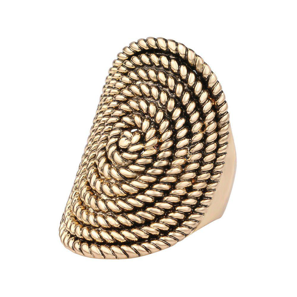 PULATU Stylish Personality Rattan Ring for Women - SAND US SIZE 10