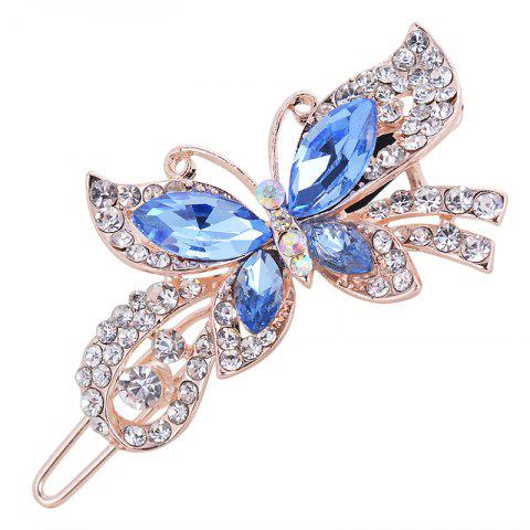 Fashion Hairpins Accessories Plated Clips Hair Pin Ponytail - BLUE GRAY