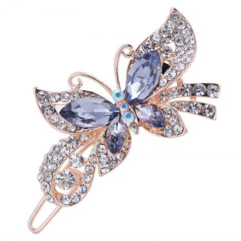 Fashion Hairpins Accessories Plated Clips Hair Pin Ponytail - BLUE WHALE