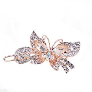 Fashion Hairpins Accessories Plated Clips Hair Pin Ponytail - CAMEL BROWN