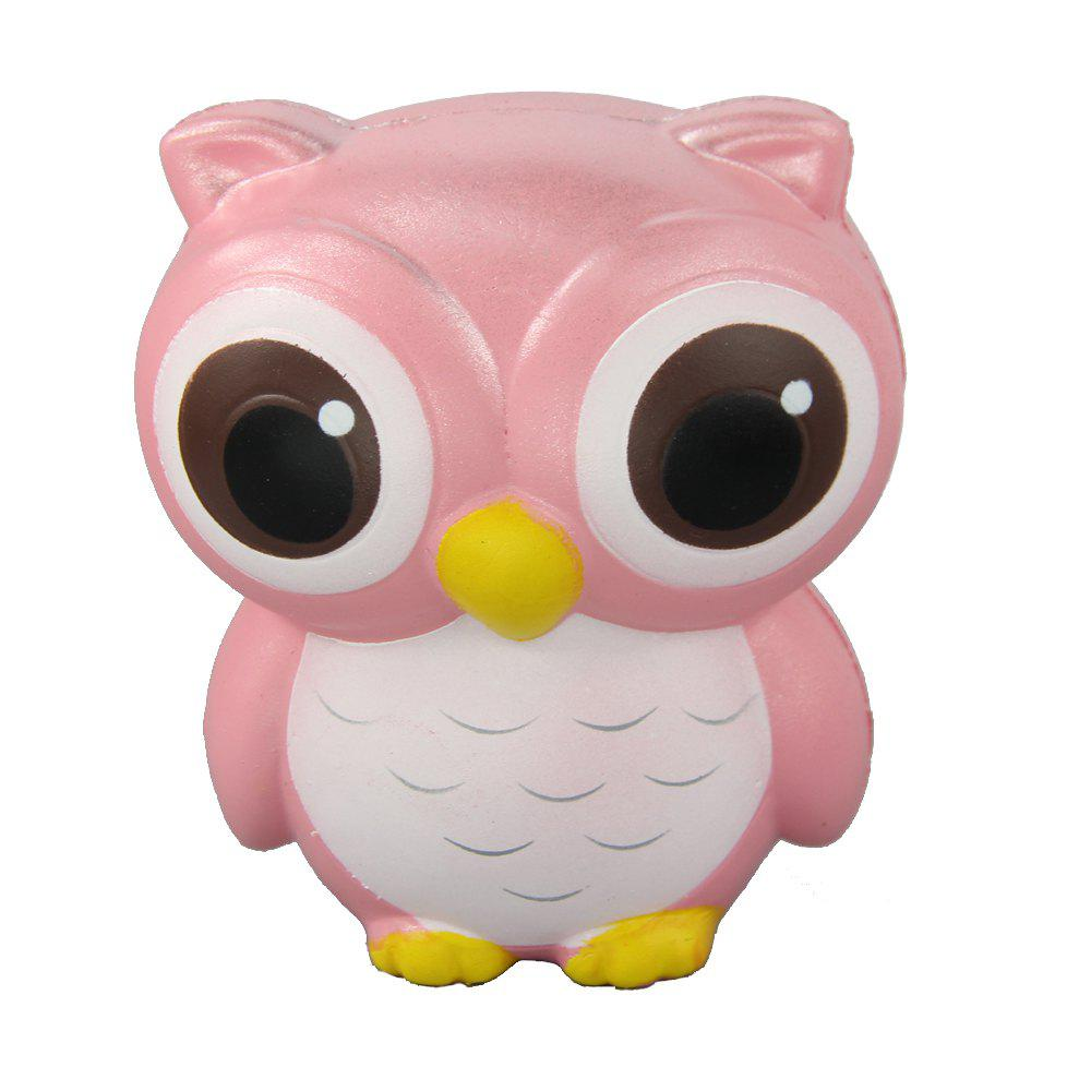 Jumbo Squishy Owl Relieve Stress Toys - PINK