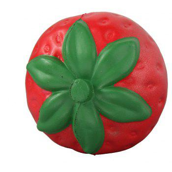 Jumbo Squishy Coloured Strawberry Relieve Stress Toys - RED