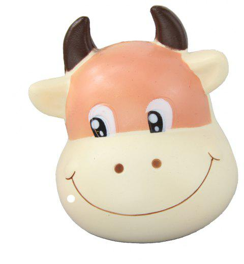 Jumbo Squishy Brown Cow Relieve Stress Toys - CHESTNUT RED