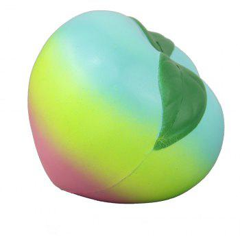 Jumbo Squishy Colourful Peach Relieve Stress Toys - multicolor A