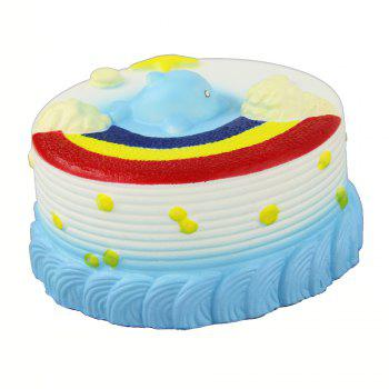 Jumbo Squishy Sea Cake Relieve Stress Toy - BLUE
