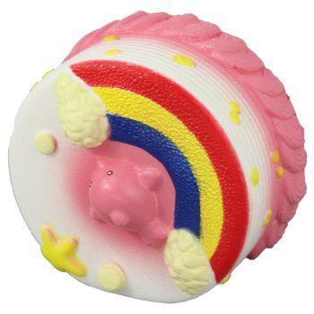 Jumbo Squishy Sea Cake Relieve Stress Toy - PINK