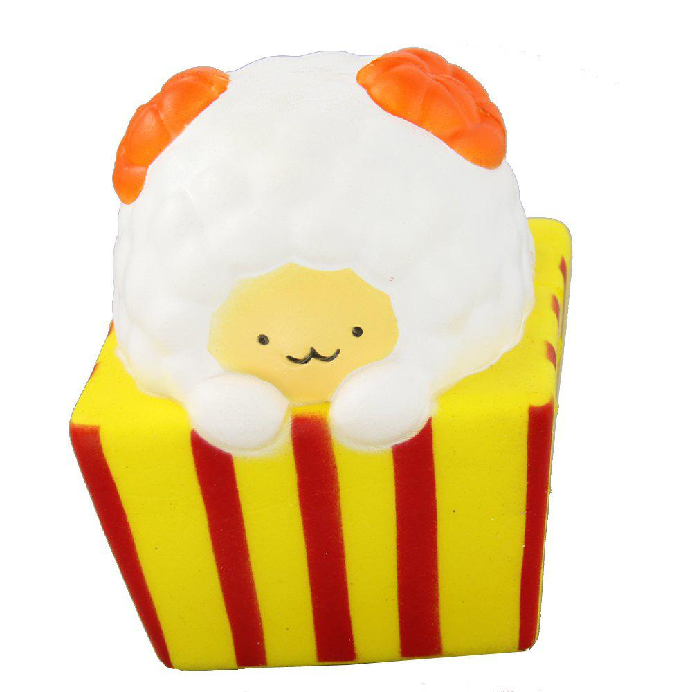 Jumbo Squishy Popcorn Sheep Relieve Stress Toys - YELLOW