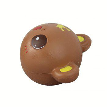 Jumbo Squishy Panda Head Relieve Stress Toy - BROWN