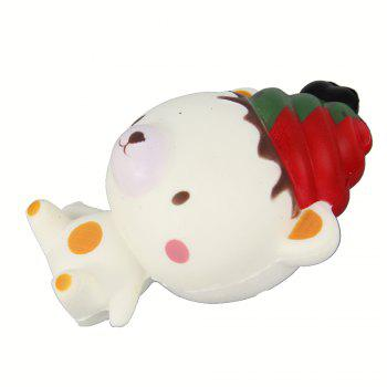 Jumbo Squishy Christmas Bear Relieve Stress Toys - WHITE