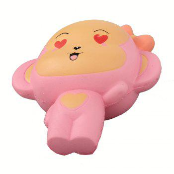 Jumbo Squishy Pink Monkey Relieve Stress Toys - PINK