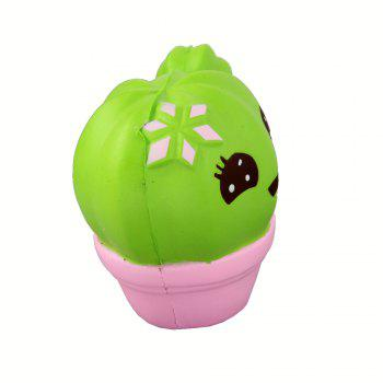 Jumbo Squishy Cactus Relieve Stress Toys - GREEN